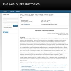 eng 8615: queer rhetorics