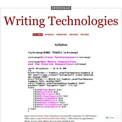 Writing Technologies