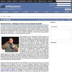 Interview de Sylvain Connac : Expliquer et faire vivre le principe de laïcité