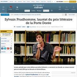 Sylvain Prudhomme, lauréat du prix littéraire de la Porte Dorée