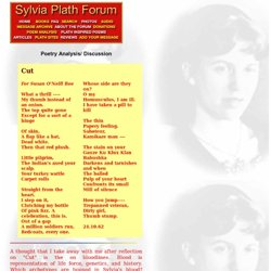 Sylvia Plath Forum: Cut