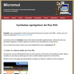 tuto Symbaloo agrégateur de flux RSS