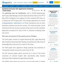 Symbiosis Entrance Test Application Guideline: Business Press Releases