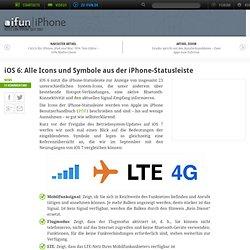 iOS 6: Alle Icons und Symbole aus der iPhone-Statusleiste