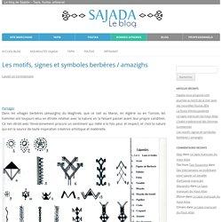 Les motifs, signes et symboles berbères / amazighs
