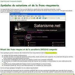 Symboles du satanisme et de la franc-maçonnerie comparés