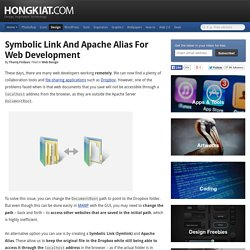 Symbolic Link and Apache Alias for Web Development