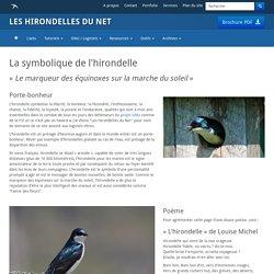 La symbolique de l'hirondelle - Les Hirondelles Du Net