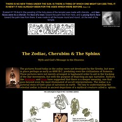 The Zodiac, Cherubim & The Sphinx - Zodiac astrology mythology, Egypt sphinx Mars sphinx face Egypt pyramid Mars pyramids, angels, aliens, ufos, sphinx cherubim