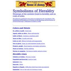 Symbolism of Heraldry