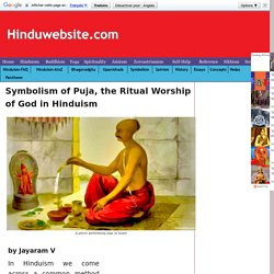 Symbolism of Puja, the Ritual Worship of God in Hinduism