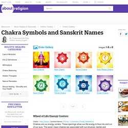 Chakra Symbols and Sanskrit Names - Learning About the Seven Chakras - Wheel of Life Energy Centers