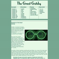 the great gatsby text pearltrees symbols in the great gatsby