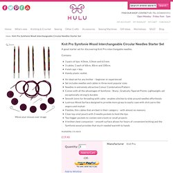 Knit Pro Symfonie Wood Interchangeable Circular Needles Starter Set from Hulu
