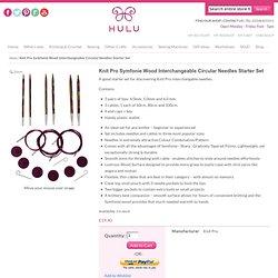 Knit Pro Symfonie Wood Interchangeable Circular Needles Starter Set from Hulu
