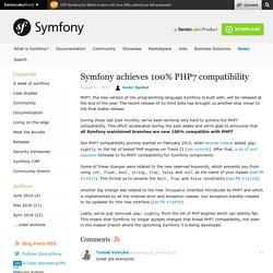 Symfony achieves 100% PHP7 compatibility