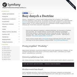 Symfony - Bazy danych a Doctrine