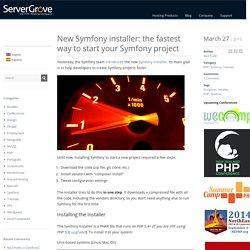 New Symfony installer: the fastest way to start your Symfony project