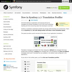 New in Symfony 2.7: Translation Profiler