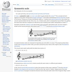 Symmetric scale - Wikipedia