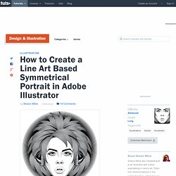 How to Create a Line Art Based Symmetrical Portrait in Adobe Illustrator