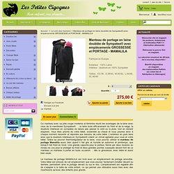 Manteau de portage en laine doublée de Sympatex® avec empiècements GROSSESSE et PORTAGE - MAMALILA - Les Petites Cigognes