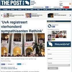 'UvA registreert vierhonderd sympathisanten Rethink'