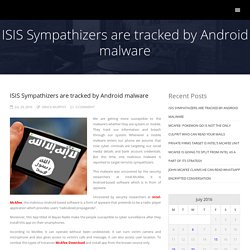 ISIS Sympathizers are tracked by Android malware