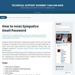 SYMPATICO TECHNICAL SUPPORT NUMBER 1-844-449-0455