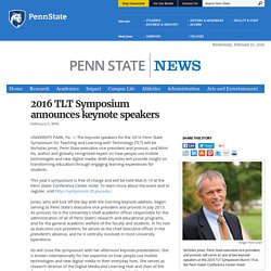 2016 TLT Symposium announces keynote speakers