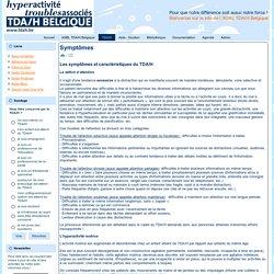 Symptômes et caractéristiques du TDA/H