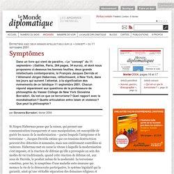 Symptômes du 11-Septembre, par Giovanna Borradori (Le Monde diplomatique, février 2004)