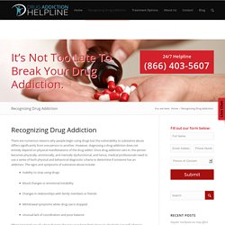 Recognizing Drug Addiction