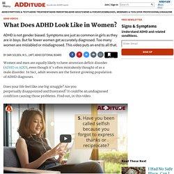 Symptoms of ADHD in Women: Self Test Video