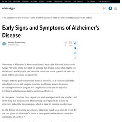 Early Signs and Symptoms of Alzheimer's Disease