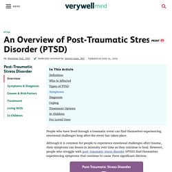 PTSD: Symptoms, Diagnosis, Causes, Treatment, and Coping