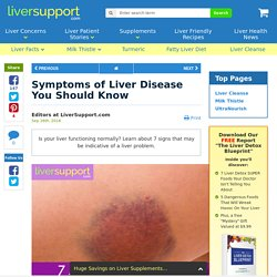 Symptoms of Liver Disease You Should Know
