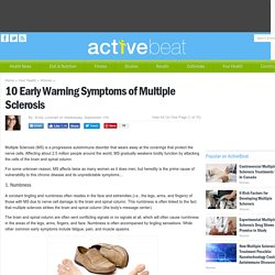 10 Early Warning Symptoms of Multiple Sclerosis