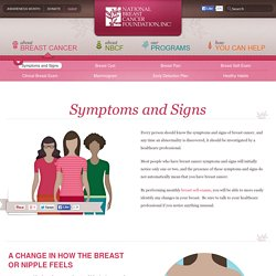 Symptoms and Signs - National Breast Cancer Foundation