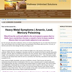 symptoms lead poisoning, heavy metal poisoning, heavy metals, toxic heavy metals