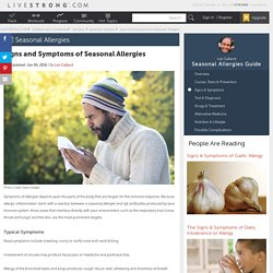 Signs and Symptoms of Seasonal Allergies