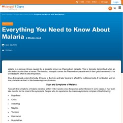 Malaria: Causes, Symptoms, Treatment, Prevention & Control