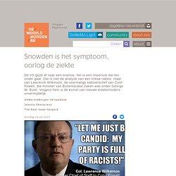 Snowden is het symptoom, oorlog de ziekte