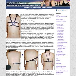 Bondage 101: Tie a Shinju Breast Harness