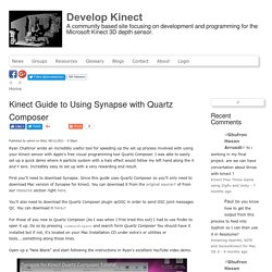 Kinect Guide to Using Synapse with Quartz Composer