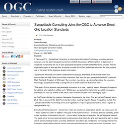 Synaptitude Consulting Joins the OGC to Advance Smart Grid Location Standards