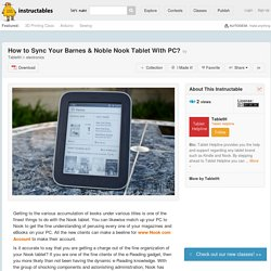 How to Sync Your Barnes & Noble Nook Tablet With PC?