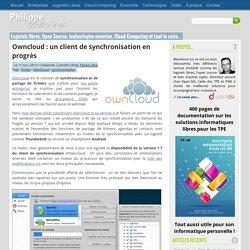 Owncloud : un client de synchronisation en progrès par