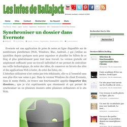 Synchroniser un dossier dans Evernote