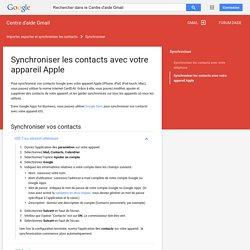 Synchroniser les contacts avec votre appareil Apple - Centre d'aide Gmail